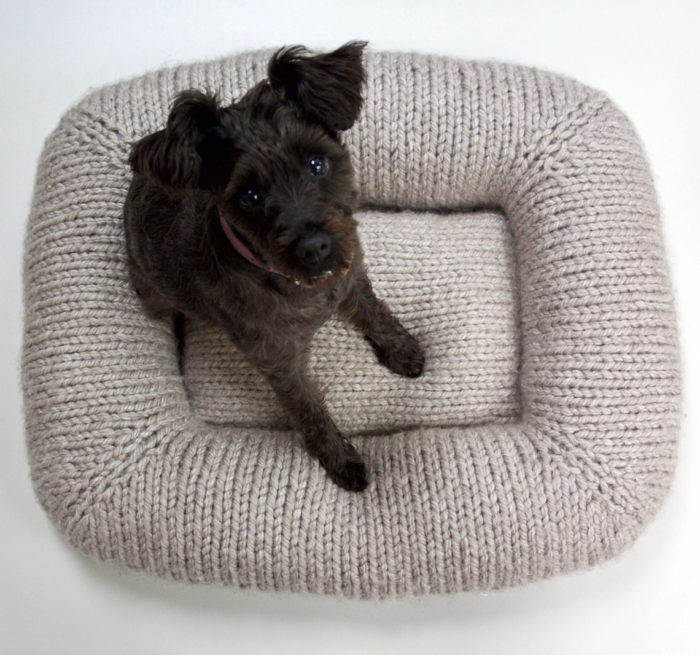 Free Knitting Pattern for Pet Bed