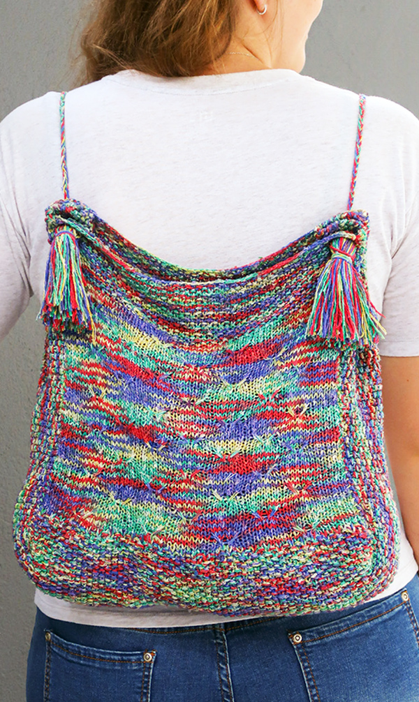 Free until July 16, 2020 Knitting Pattern for Rainbow Backpack