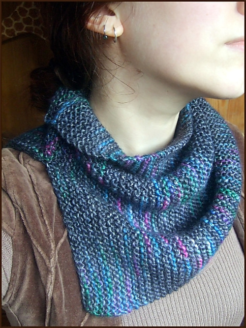 Free Knitting Pattern for Easy Garter Stitch Cowl