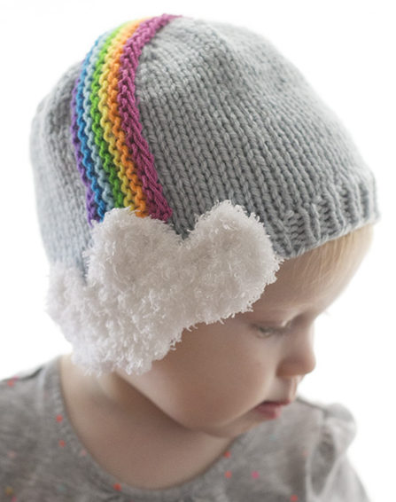 Free Knitting Pattern for Over the Rainbow Hat