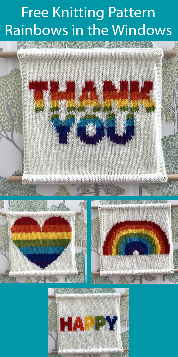 Free Knitting Pattern for Rainbows in the Windows