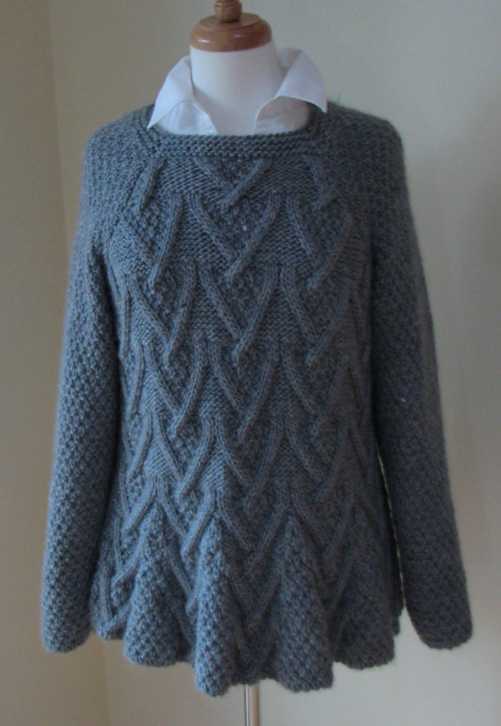 Free Knitting Pattern for Rambler Tunic Sweater