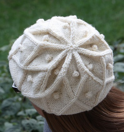 Free knitting pattern for Rangoli Cable Beret and more diamond stitch  patterns 587b56a1430