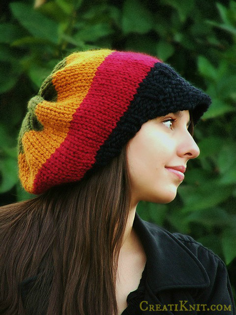 Knitting pattern for adult rasta hat