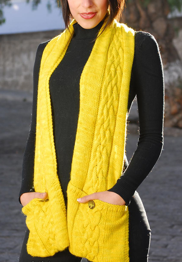 Free Knitting Pattern for Reader Scarf