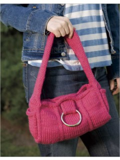 Really Pink Purse Knitting Pattern | Free Knitting Patterns for Bags, Purses, and Totes at https://intheloopknitting.com/bag-purse-and-tote-free-knitting-patterns/