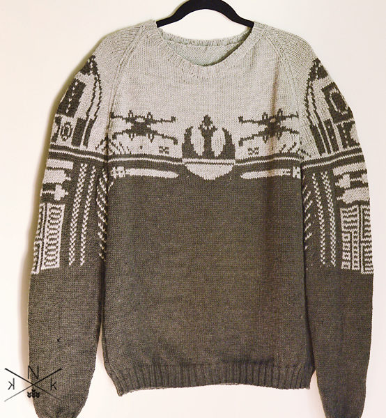 Knitting Pattern for Rebel Alliance Sweater