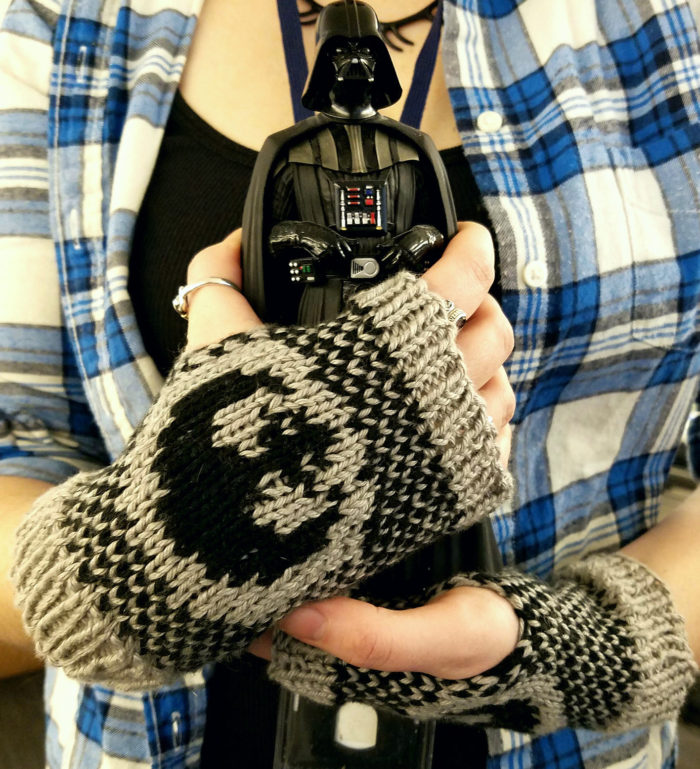 Free Knitting Pattern for Rebel Alliance Mitts