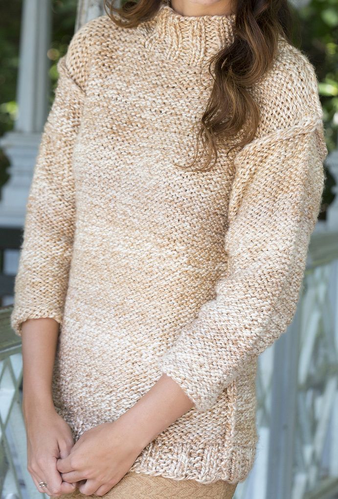 Free Knitting Pattern for Relaxed Sweater