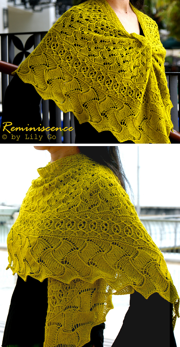 Knitting Pattern for Reminiscence Shawl