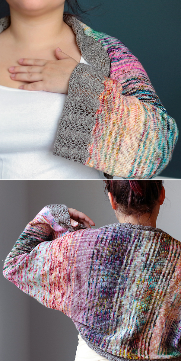 Free Knitting Pattern for Remnants Shrug