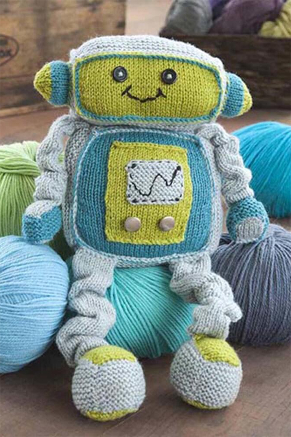 Free Knitting Pattern for Remy Robot