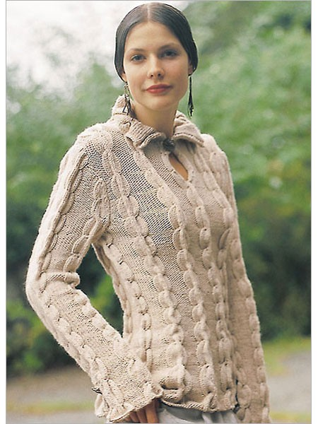 Knitting pattern for Renaissance Tunic pullover sweater