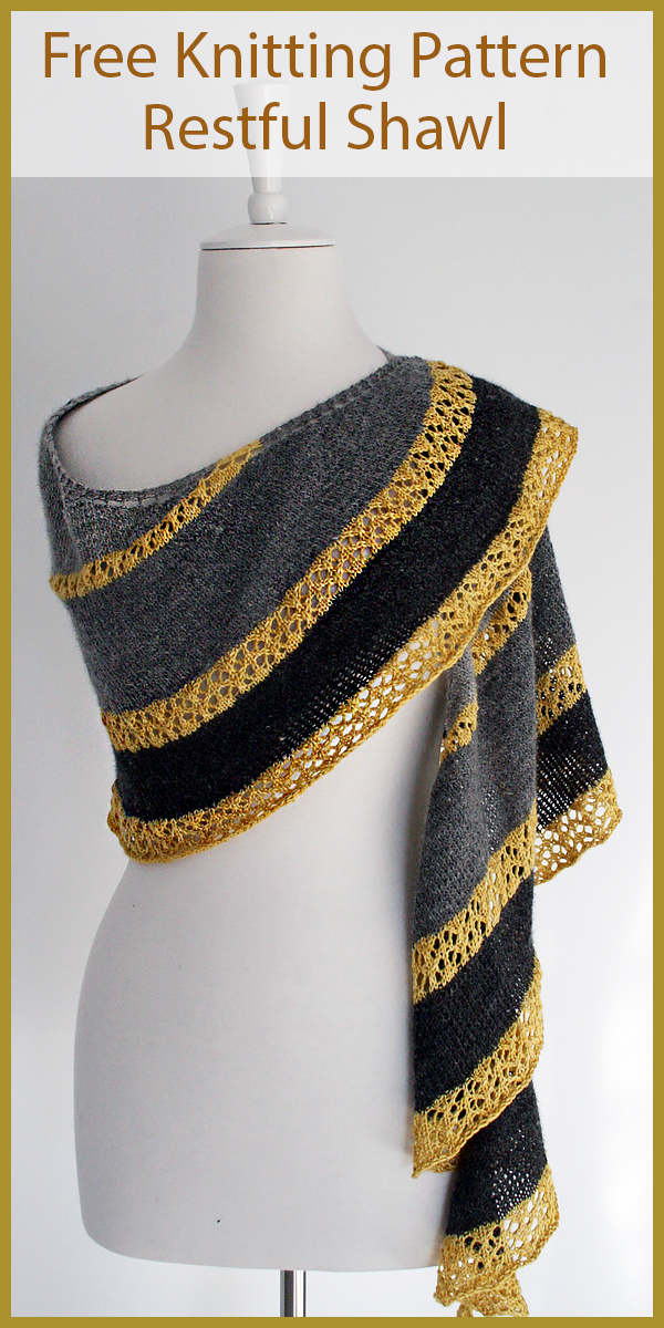 Free Knitting Pattern for Restful Shawl