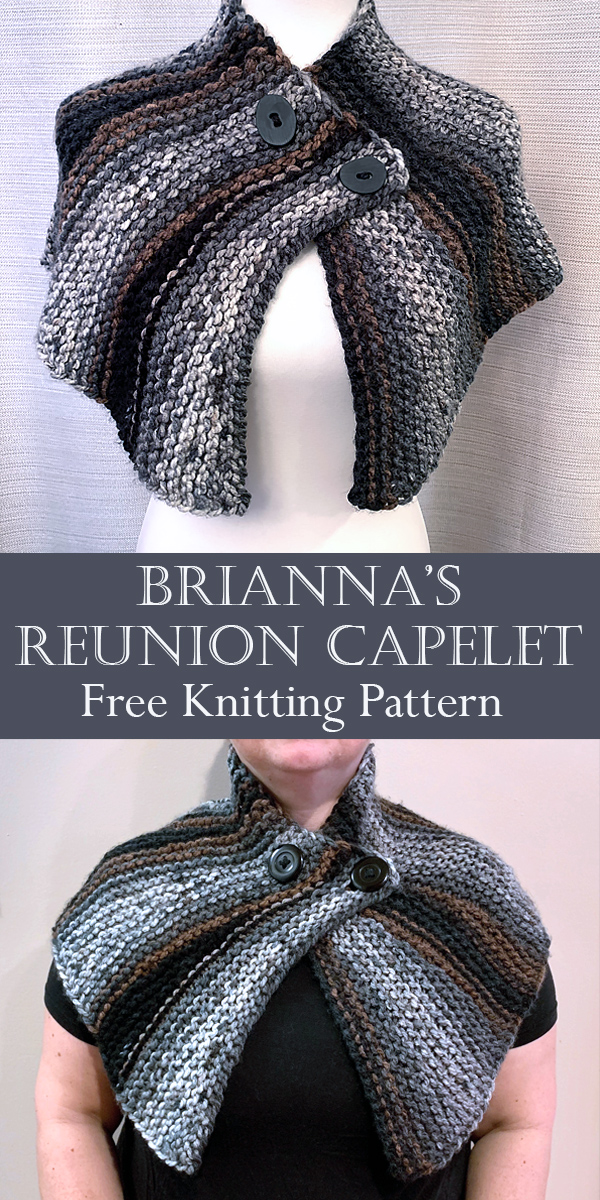 Free Knitting Pattern for Outlander Inspired Brianna's Reunion Capelet