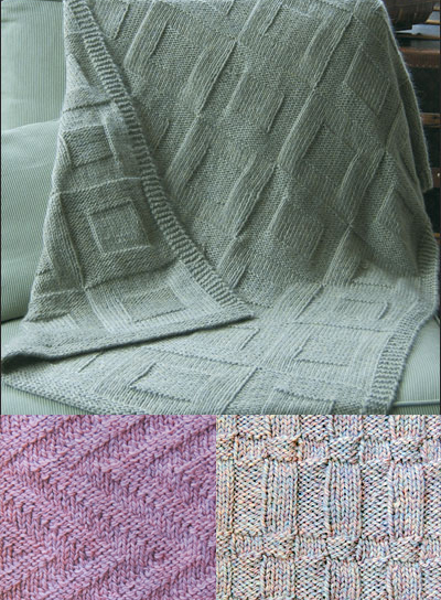 Knitting Patterns for Reversible Afghans