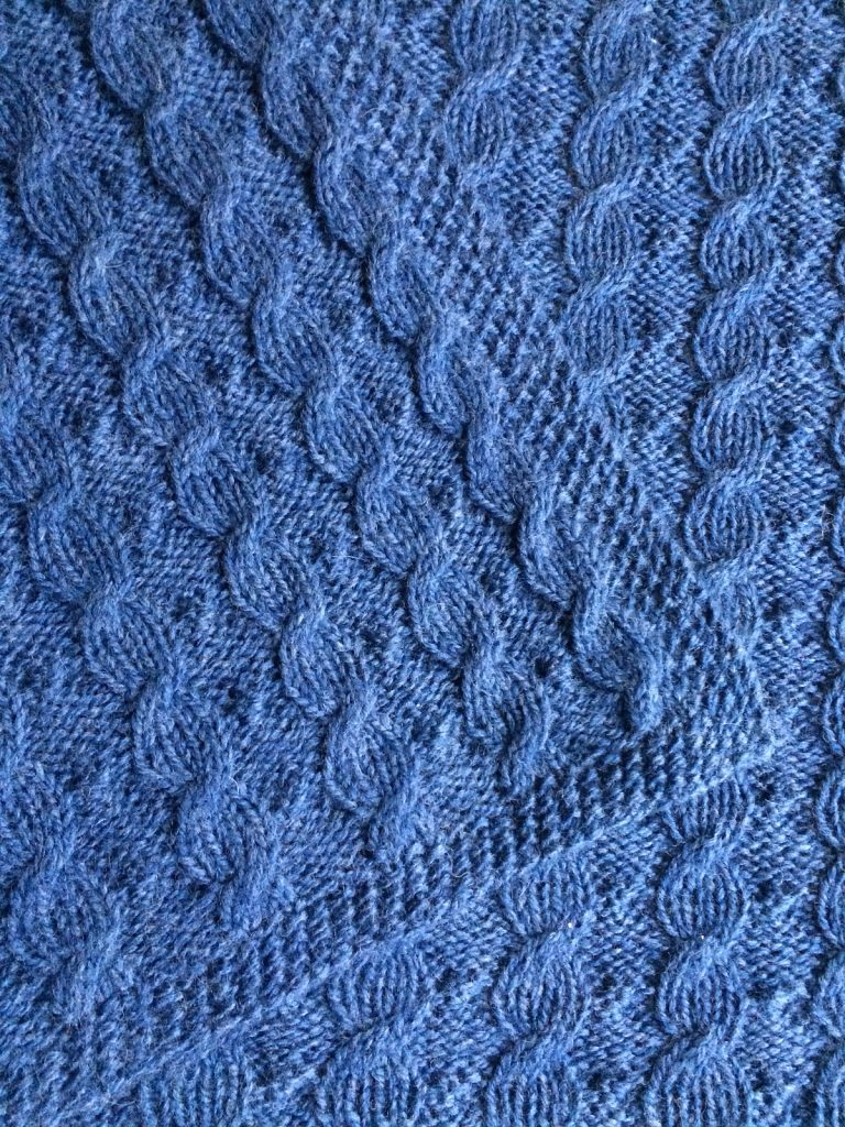 Free Knitting Pattern for Reversible Cable Baby Blanket
