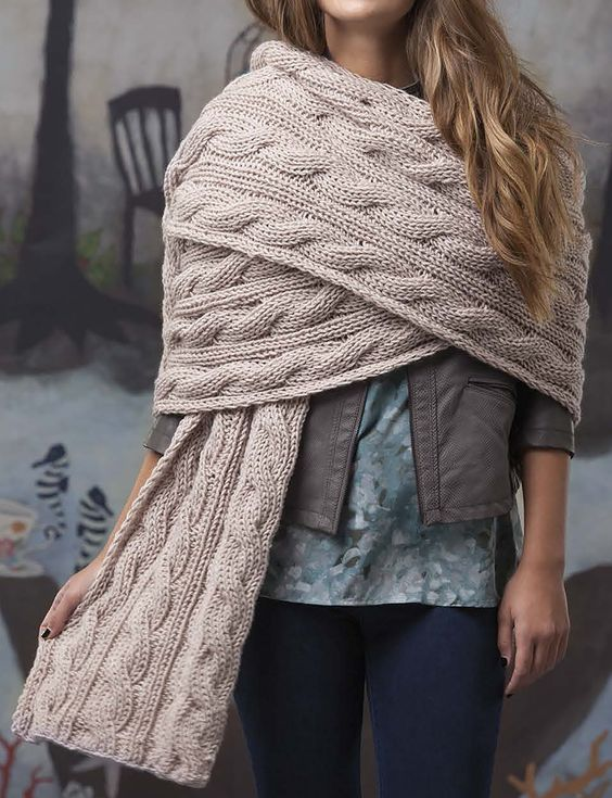 Knitting Pattern for Reversible Cables Super Scarf