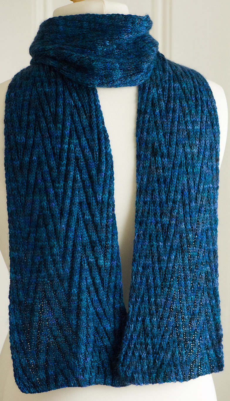 Free Knitting Pattern for Reversible Chevron Scarf