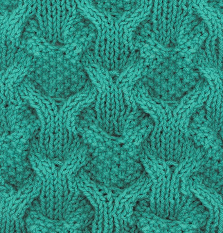 Free Knitting Pattern for Reversibly Cabled Dish Cloth