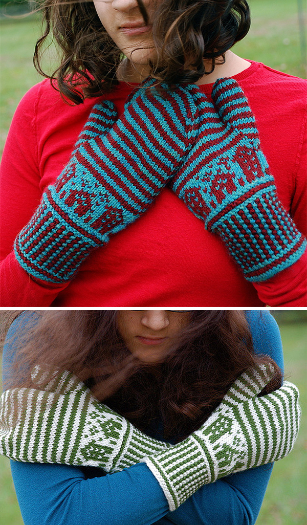 Knitting Pattern for Reykjavik Mittens