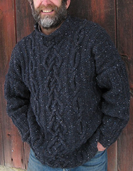 Free Knitting Pattern for Rhapsody in Tweed Pullover