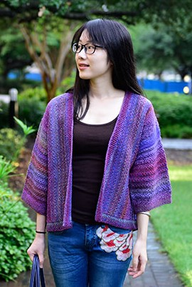 Knitting pattern for Rhythm Kimono cardigan