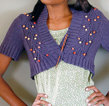 Free Knitting Pattern for Ria Shrug