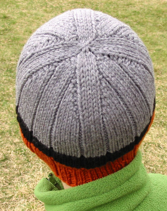 Free Knitting Pattern for Rib-a-Roni Beanie
