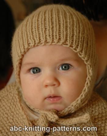 Baby Earflap Hat Free Knitting Pattern and more baby hat knitting patterns baf7473f597