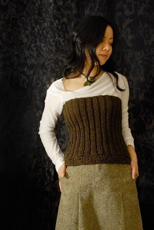 Knitted Ribbed Bustier Knitting Pattern and other history inspired knitting patterns
