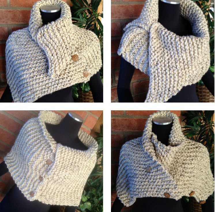 Knitting Pattern for Ribbed Hugger Cowl