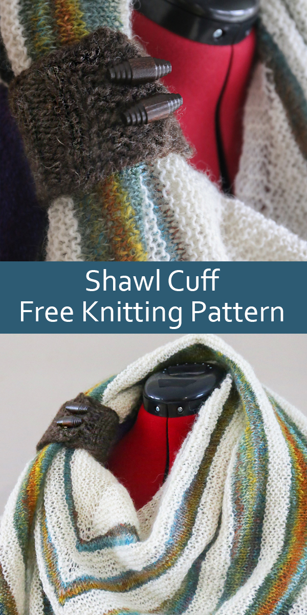 Free Knitting Pattern for Shawl Cuff