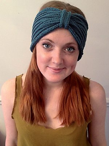 Turban Headband free knitting pattern
