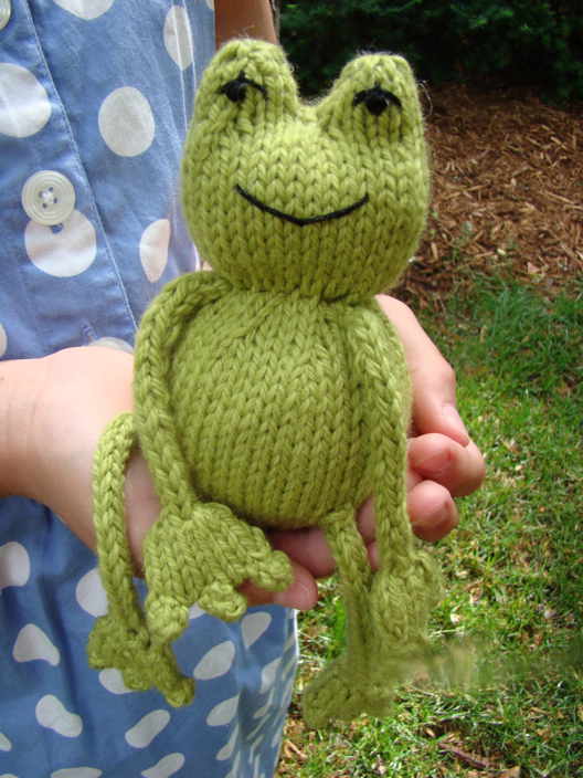 Ribbit Frog Free Knitting Pattern and more wild animal knitting patterns