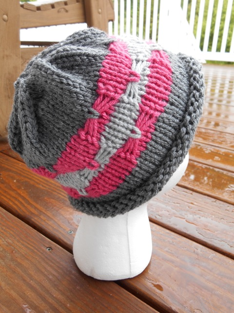 Free Knitting Pattern for Ribbons and Bows Hat