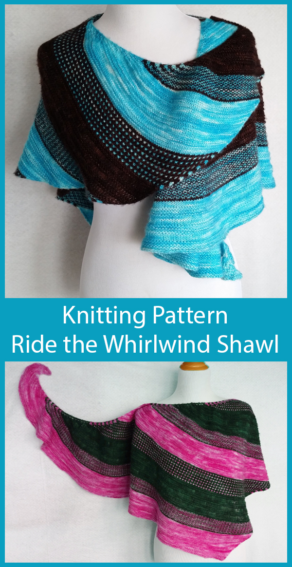 Knitting Pattern for Ride the Whirlwind Shawl