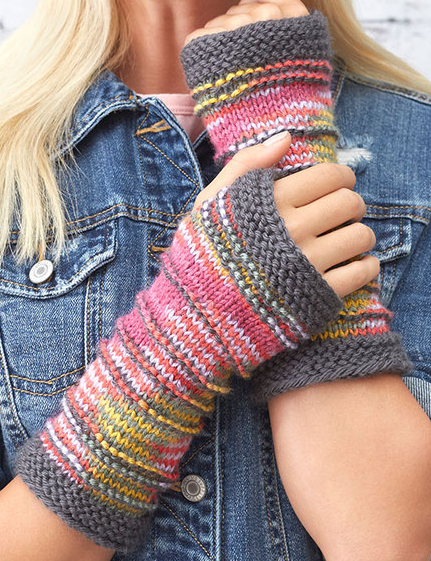 Free Knitting Pattern for Ridge Mitts