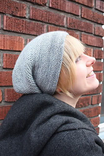 Free knitting pattern for Rikke Hat Slouchy Beanie
