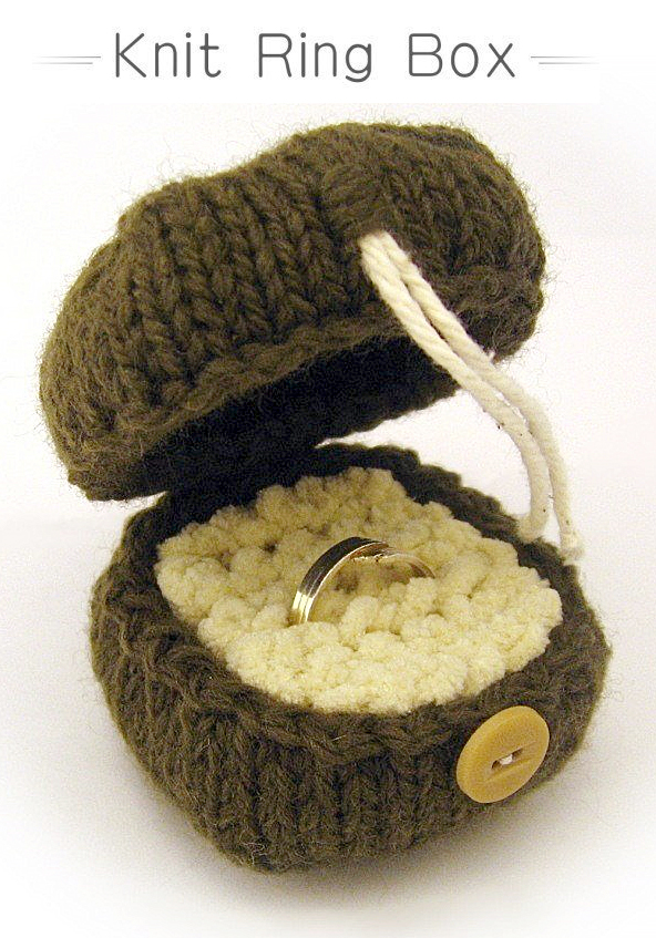Knitting Pattern for Ring Box