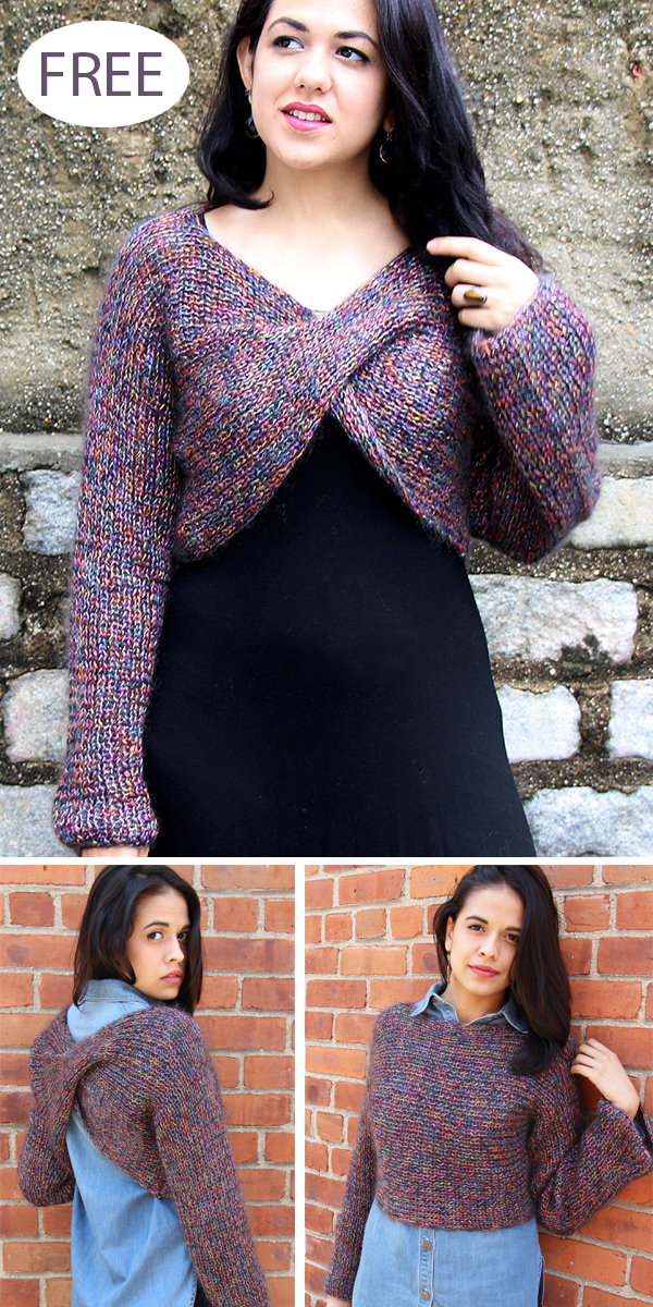 Free Knitting Pattern for Criss-Cross Shrug