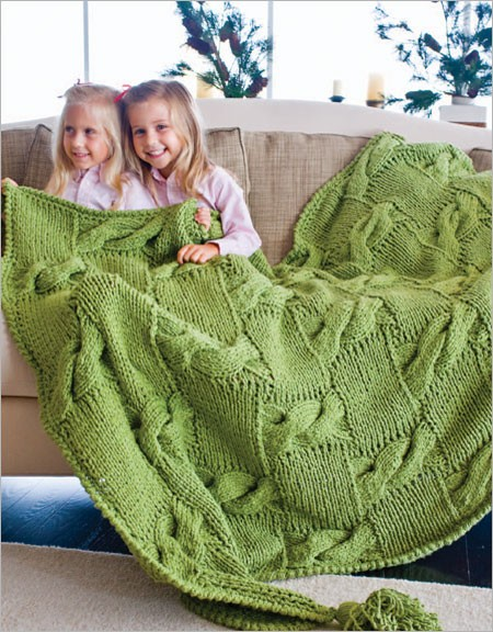 Free Knitting Pattern for River and Woods Afghan