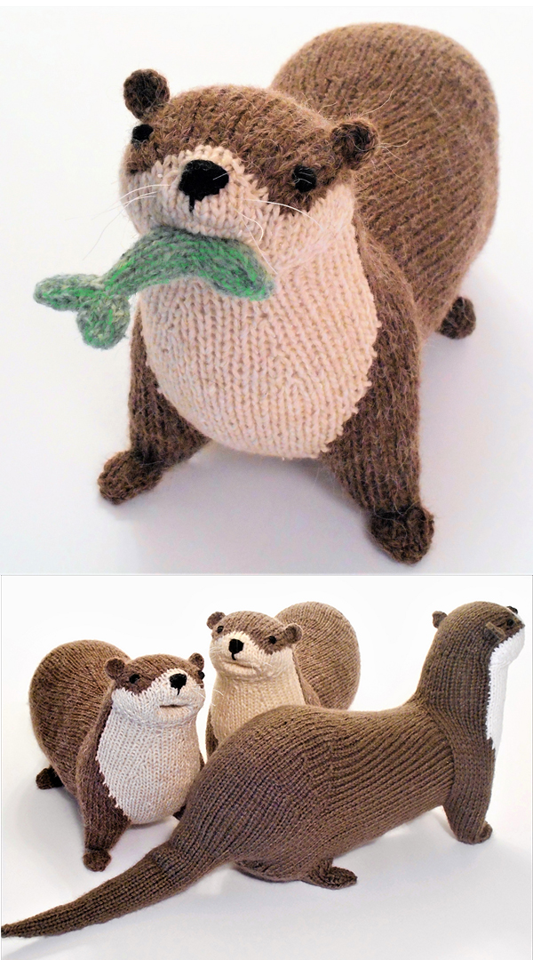 Knitting Pattern for River Otter