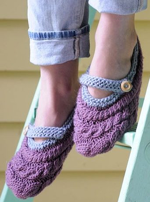 Knitting Pattern for River Slippers