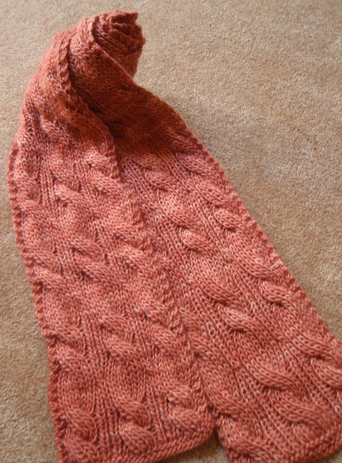 Free Knitting Pattern for Reversible Rivulet Scarf
