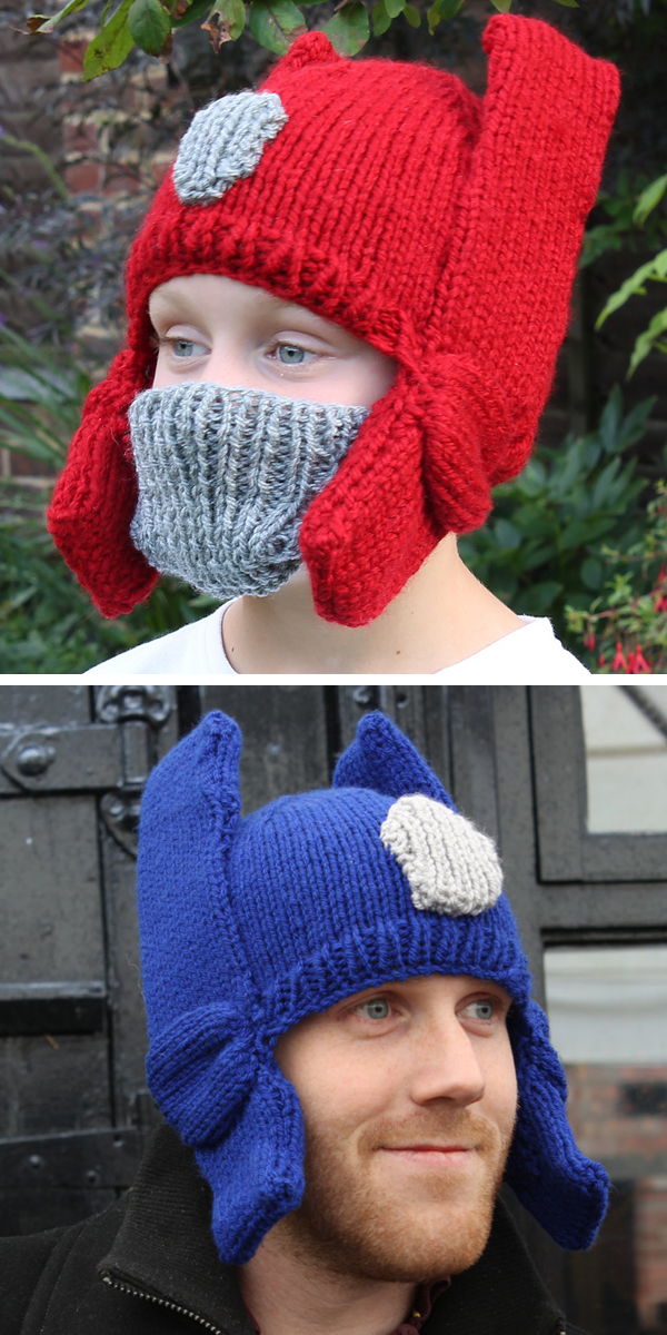 Knitting Pattern for Autobot Transformer Hat