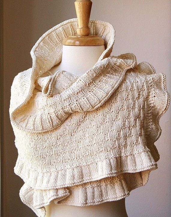 Rococco Shawl Knitting Pattern and more textured shawl knitting patterns, many free