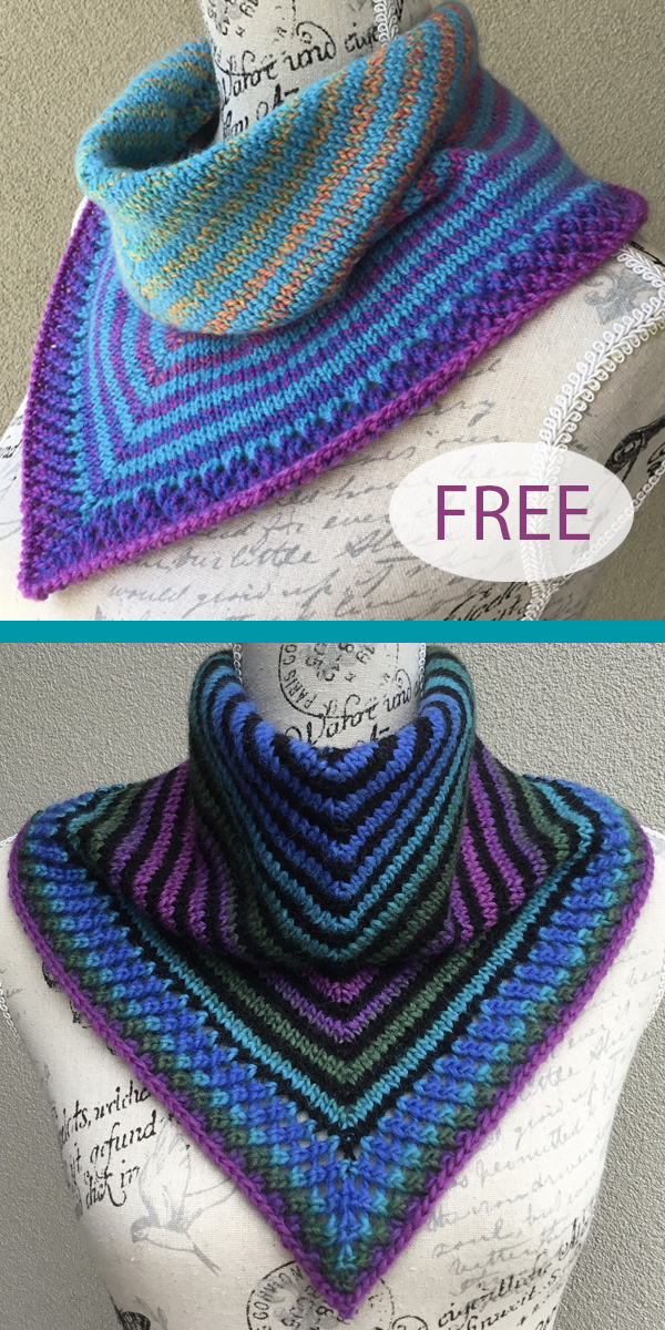 Free Knitting Pattern for Easy Rokeby Cowl