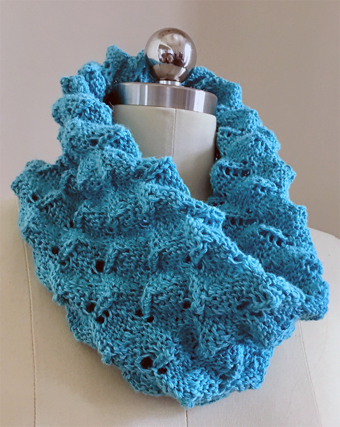 Free Knitting Pattern for Easy Roly Poly Cowl