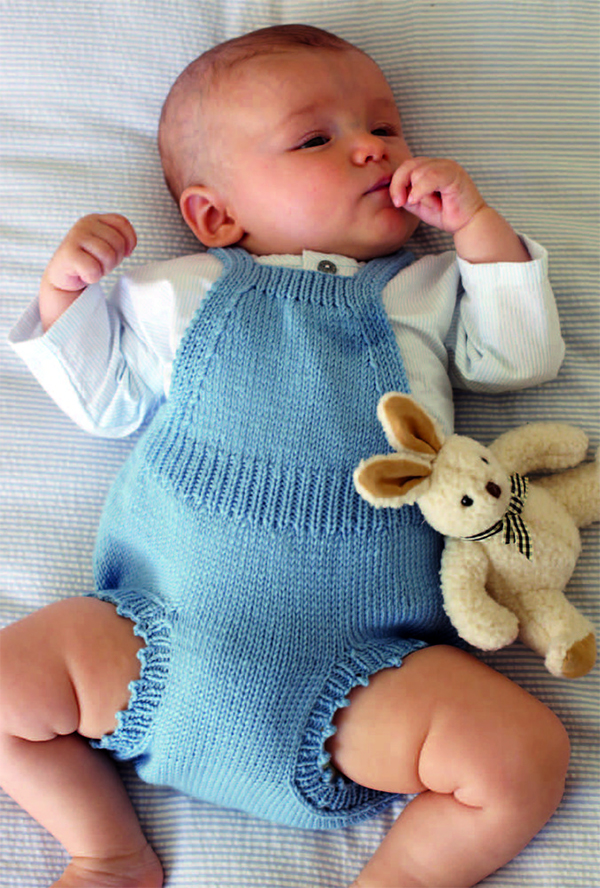 Knitting Pattern for Baby Romper Dress by Debbie Bliss